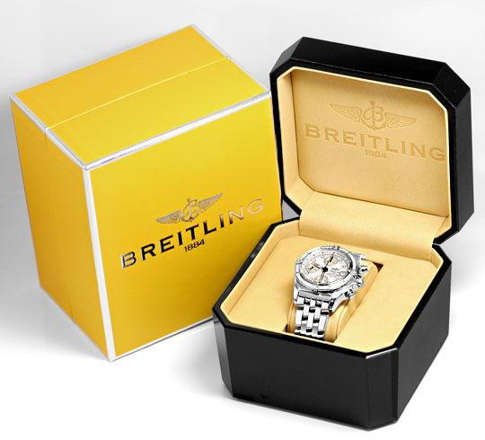 Foto 8, Breitling Chrono Cockpit Perlmutt Diamantlünette Topuhr, U1255