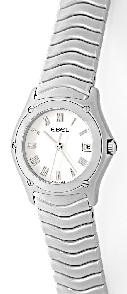 Foto 2, Neue Ebel Classic Wave Lady Damenuhr Edelstahl Q Topuhr, U1261
