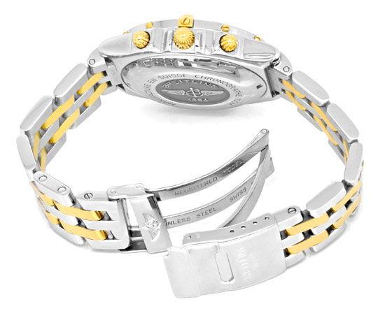Foto 4, Breitling Windrider Chronomat Pilot Band St Gold Topuhr, U1266