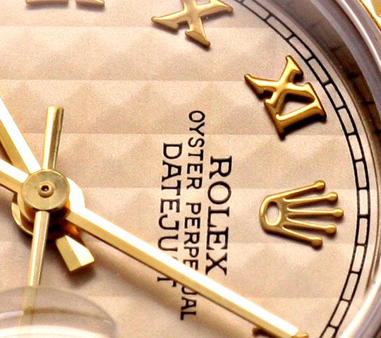 Foto 3, Rolex Datejust Da Stahlgold Pyramidenzifferblatt Topuhr, U1268