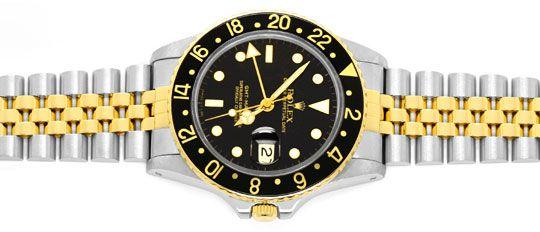 Foto 1, Rolex GMT Master Stahlgold Herren Uhr GMT Master Topuhr, U1273