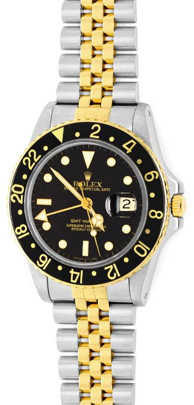 Foto 2, Rolex GMT Master Stahlgold Herren Uhr GMT Master Topuhr, U1273