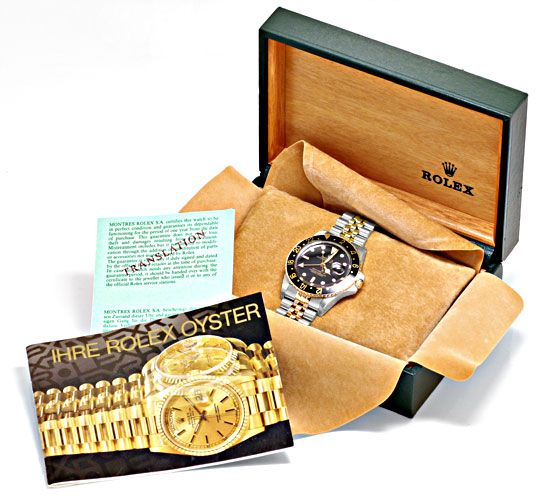 Foto 6, Rolex GMT Master Stahlgold Herren Uhr GMT Master Topuhr, U1273