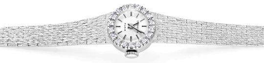 Foto 1, Dugena Damen Diamant Armbanduhr 0,40ct Weissgold Topuhr, U1274