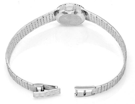 Foto 4, Dugena Damen Diamant Armbanduhr 0,40ct Weissgold Topuhr, U1274