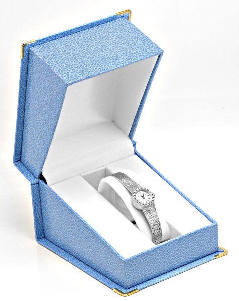 Foto 5, Dugena Damen Diamant Armbanduhr 0,40ct Weissgold Topuhr, U1274