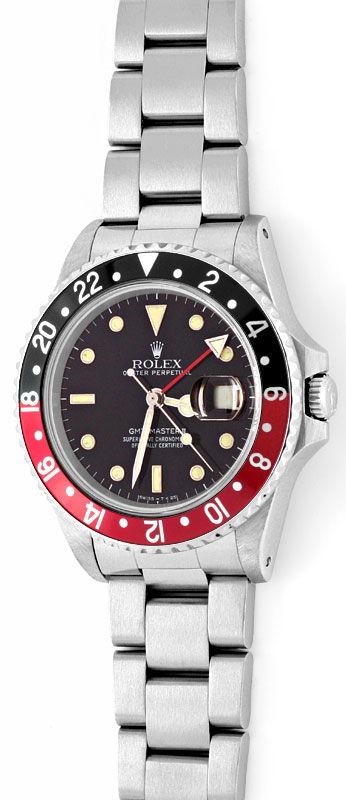 Foto 2, Rolex GMT Master 2 Rot Schwarz Oyster Neuzustand Topuhr, U1275