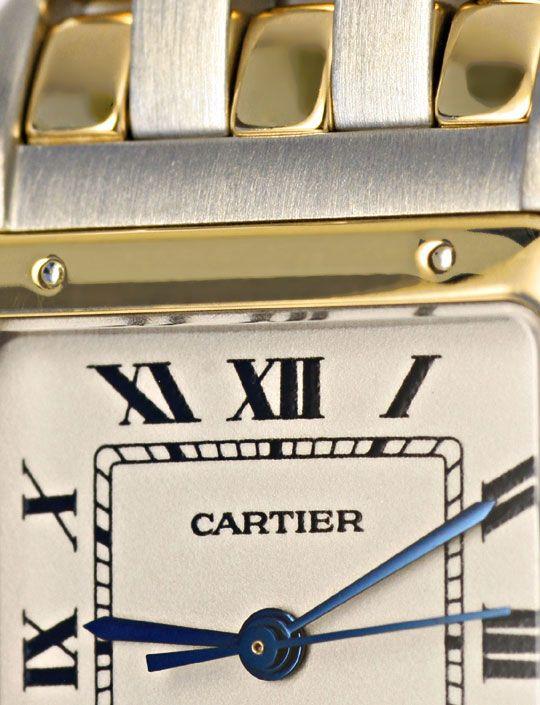 Foto 3, Cartier Panthere Herren Uhr, drei Streifen Gold, Topuhr, U1278