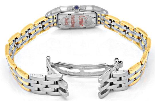 Foto 4, Cartier Panthere Herren Uhr, drei Streifen Gold, Topuhr, U1278