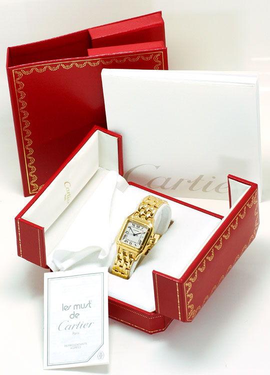 Foto 5, Panthere de Cartier Gelbgold Herrenarmbanduhr Neuwertig, U1279