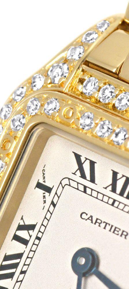 Foto 3, Cartier Panthere Diamant Gehäuse Lünette, Damen Geprüft, U1280