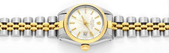 Foto 1, Rolex Date Damen Uhr Stahl Gold Oyster Perpetual Topuhr, U1286