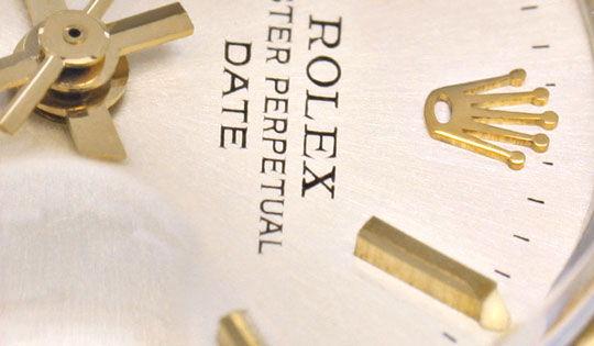 Foto 3, Rolex Date Damen Uhr Stahl Gold Oyster Perpetual Topuhr, U1286