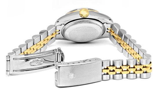 Foto 5, Rolex Date Damen Uhr Stahl Gold Oyster Perpetual Topuhr, U1286