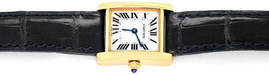 Foto 1, Cartier Tank Francaise Damen Armbanduhr Gelbgold Topuhr, U1289
