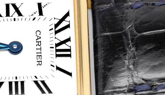 Foto 3, Cartier Tank Francaise Damen Armbanduhr Gelbgold Topuhr, U1289