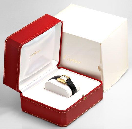 Foto 5, Cartier Tank Francaise Damen Armbanduhr Gelbgold Topuhr, U1289