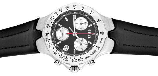 Foto 1, Ebel Sportwave Chronograph Sport Wave Leder Falt Topuhr, U1291