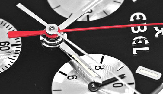 Foto 3, Ebel Sportwave Chronograph Sport Wave Leder Falt Topuhr, U1291