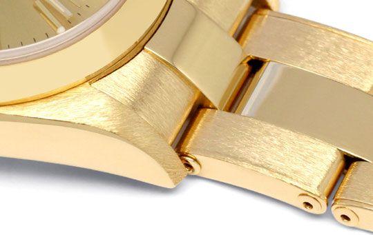 Foto 4, Rolex Gelbgold Damen Armbanduhr Oyster Perpetual Topuhr, U1293