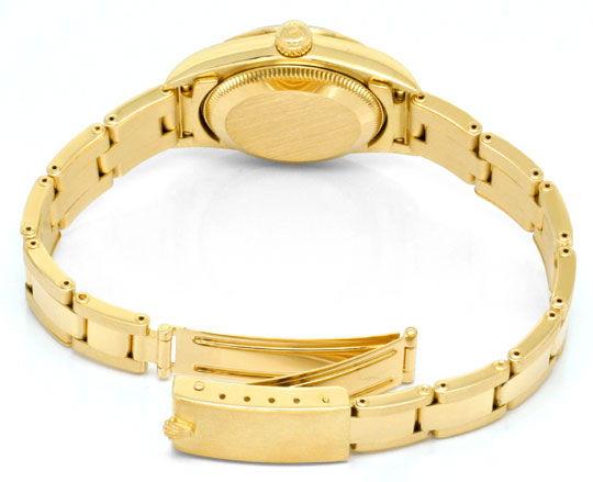 Foto 5, Rolex Gelbgold Damen Armbanduhr Oyster Perpetual Topuhr, U1293
