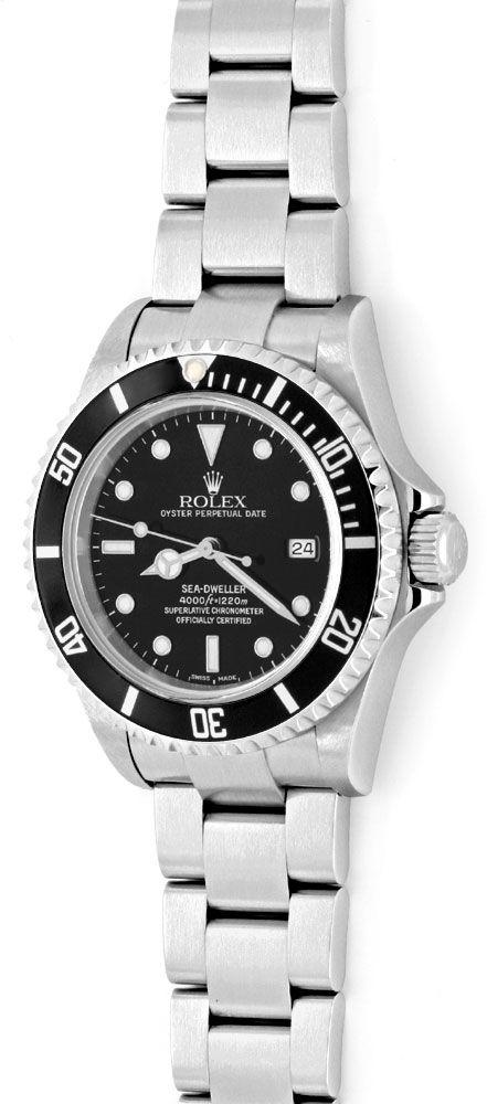 Foto 2, Rolex Sea Dweller 4000 Seadweller 16600 Fliplock Topuhr, U1294