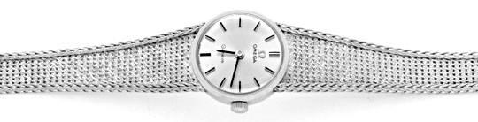 Foto 1, Omega Damen Armbanduhr 18K Weissgold Goldarmband Topuhr, U1299