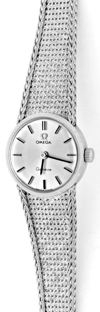 Foto 2, Omega Damen Armbanduhr 18K Weissgold Goldarmband Topuhr, U1299