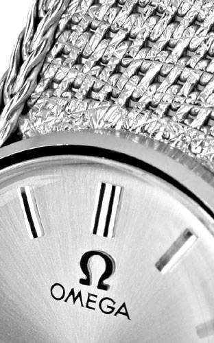 Foto 3, Omega Damen Armbanduhr 18K Weissgold Goldarmband Topuhr, U1299