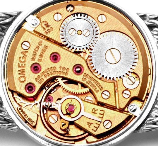 Foto 4, Omega Damen Armbanduhr 18K Weissgold Goldarmband Topuhr, U1299