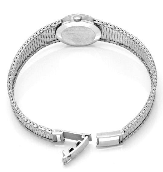 Foto 5, Omega Damen Armbanduhr 18K Weissgold Goldarmband Topuhr, U1299