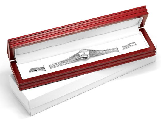 Foto 6, Omega Damen Armbanduhr 18K Weissgold Goldarmband Topuhr, U1299
