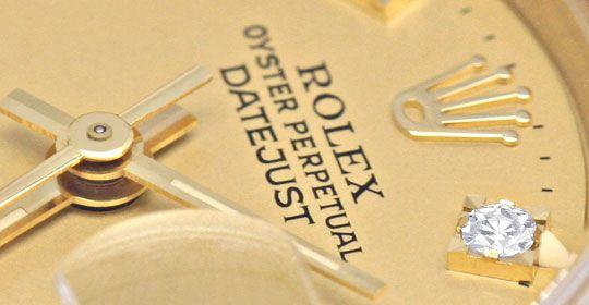 Foto 3, Rolex Datejust Damenuhr Gold Diamantzifferblatt Geprüft, U1301