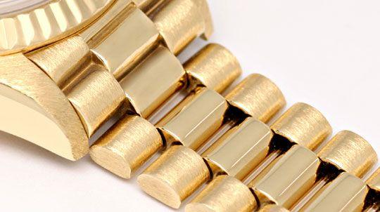 Foto 4, Rolex Datejust Damenuhr Gold Diamantzifferblatt Geprüft, U1301