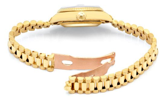 Foto 5, Rolex Datejust Damenuhr Gold Diamantzifferblatt Geprüft, U1301
