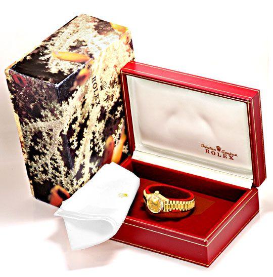 Foto 6, Rolex Datejust Damenuhr Gold Diamantzifferblatt Geprüft, U1301