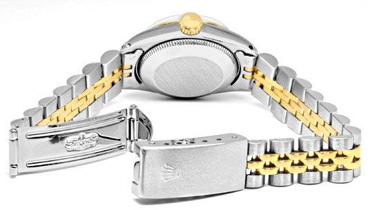 Foto 5, Rolex Damen Uhr Stahlgold Automatik Jubilee Band Topuhr, U1304