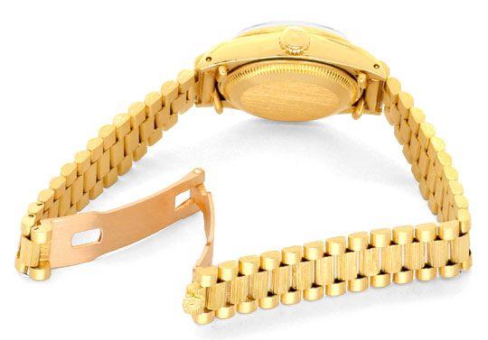 Foto 5, Rolex Damen Armbanduhr Gold Diamant Zifferblatt Geprüft, U1309