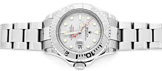 Foto 1, Rolex Hr Yacht Master Platin Stahl Rolesium 40mm Topuhr, U1311