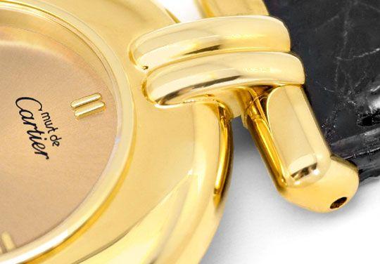 Foto 3, Cartier Colisee Damen Golden Kroko Faltschliesse Topuhr, U1318