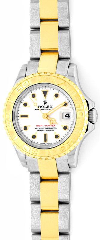 Foto 2, Rolex Yacht Master Damenuhr Stahlgold Neuzustand Topuhr, U1328
