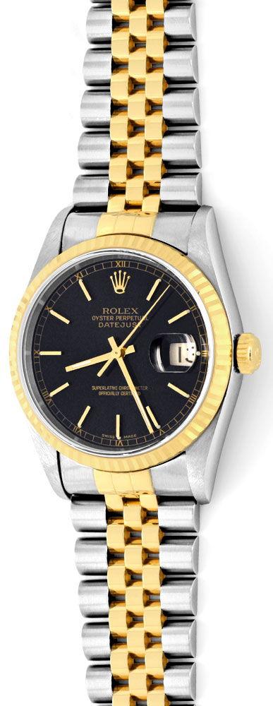 Foto 2, Ungetragene Rolex Datejust Herren Uhr Stahl Gold Topuhr, U1329
