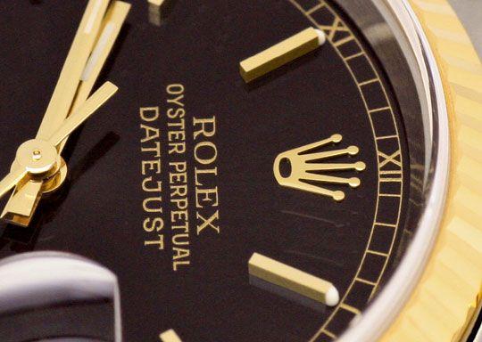 Foto 3, Ungetragene Rolex Datejust Herren Uhr Stahl Gold Topuhr, U1329