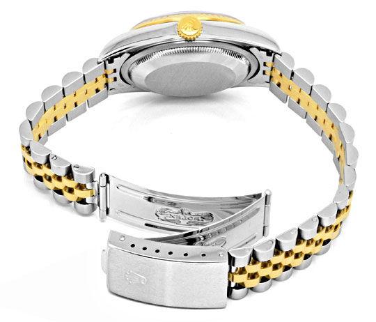 Foto 5, Ungetragene Rolex Datejust Herren Uhr Stahl Gold Topuhr, U1329
