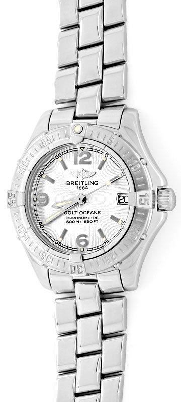 Foto 2, Breitling Damen Uhr Colt Ocean Oceane Aeromarine Topuhr, U1330
