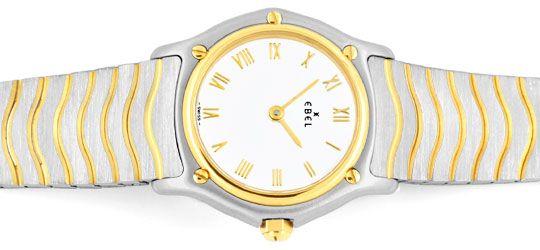 Foto 1, Ebel Sport Classic, Damen Armband Uhr Stahl Gold Topuhr, U1334