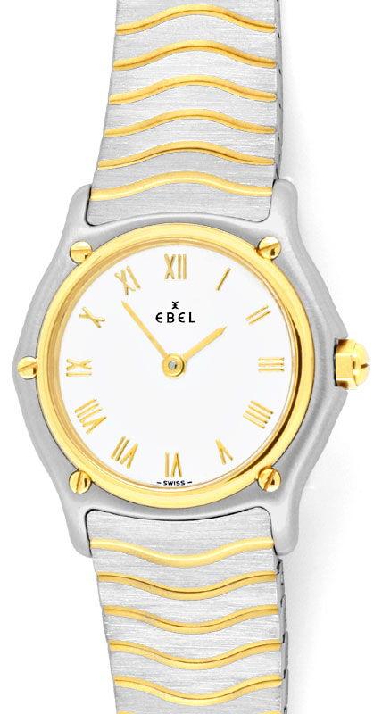 Foto 2, Ebel Sport Classic, Damen Armband Uhr Stahl Gold Topuhr, U1334