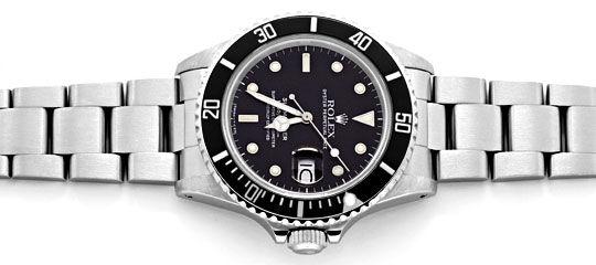 Foto 1, Rolex Submariner Date 16800 Oyster Fliplock Band Topuhr, U1336