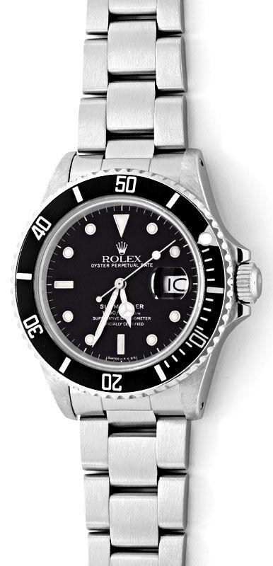 Foto 2, Rolex Submariner Date 16800 Oyster Fliplock Band Topuhr, U1336