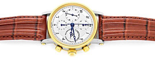 Foto 1, Chronoswiss Chronometer Chronograph Stahlgold Hr Topuhr, U1337